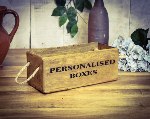 Bespoke Small Vintage Wooden Box